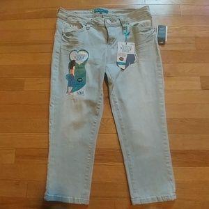 Light Wash Crop Jeans